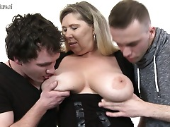 Insane big titted housewife needs 2 dicks to feel pleased