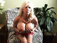 Enormous breasted mature slut going kinky